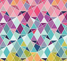 Triangular Bright - Geometric pattern by creacyclamen