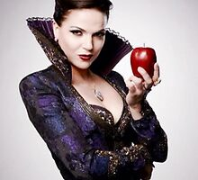 Regina Mills as The Evil Queen with apple by swiftspick