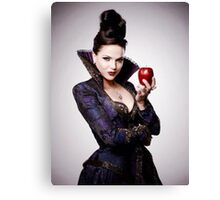 Regina Mills as The Evil Queen with apple Canvas Print
