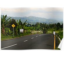 On the Long Green Road, West Sumatra Poster