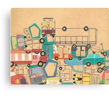Traffic Jam – A Postcard from India Canvas Print