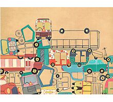 Traffic Jam – A Postcard from India Photographic Print