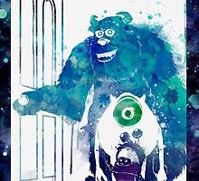 Monster's Inc Ft. Sully, Mike & Boo by ploveprints