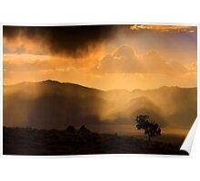 Thunder Storm Across the High Desert  Poster