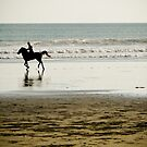 Horse-riding on Double Six Beach, Bali by Ashlee Betteridge