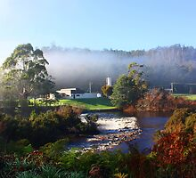 Across The Weir -  Forth Tasmania by Rosdenphoto