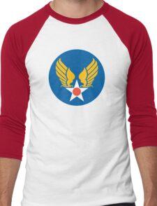 United States Roundel 2 WW2 Men's Baseball ¾ T-Shirt