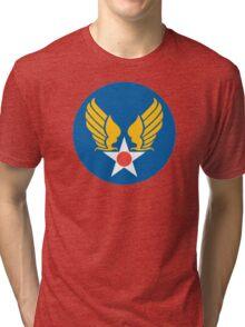 United States Roundel 2 WW2 Tri-blend T-Shirt