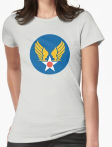 United States Roundel 2 WW2 Womens Fitted T-Shirt