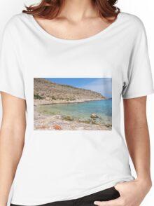 Kania beach, Halki Women's Relaxed Fit T-Shirt