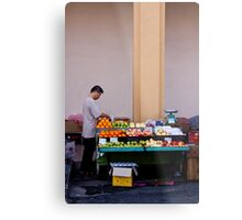 Fruit Seller, Penang, Malaysia Metal Print