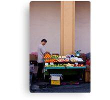 Fruit Seller, Penang, Malaysia Canvas Print