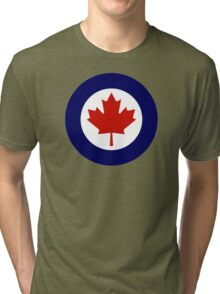 Canadian Roundel WW2 Tri-blend T-Shirt