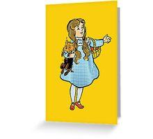 Vintage Wizard of Oz Dorothy Greeting Card