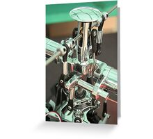 RC Helicopter Gears Greeting Card