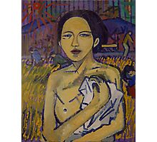 Peasant Woman in the Rice Field Photographic Print