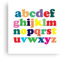 Colorful Alphabet Canvas Print