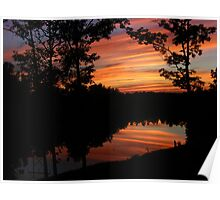 June Sunset Reflections Poster
