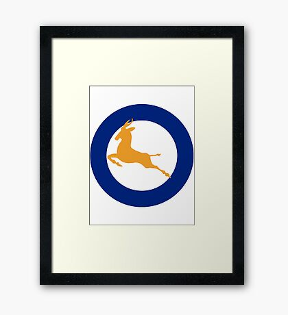 South African Roundel WW2 Framed Print