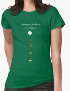 Stairway to the moon Womens Fitted T-Shirt