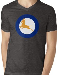 South African Roundel WW2 Mens V-Neck T-Shirt