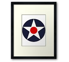 United States Roundel WW2 Framed Print