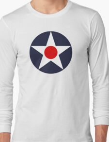 United States Roundel WW2 Long Sleeve T-Shirt