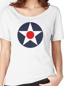 United States Roundel WW2 Women's Relaxed Fit T-Shirt