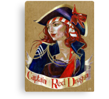 Captain Red Dragon Canvas Print