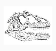 Carnosaur Skull Ink Drawing Kids Clothes