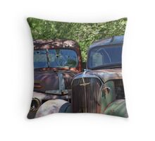 Down But Not Out! Throw Pillow