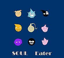 Soul Eater Souls by Broseidon13