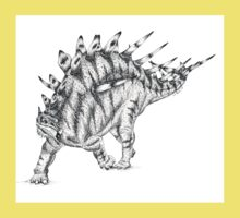 Kentrosaurus Pen & Ink Drawing Kids Clothes