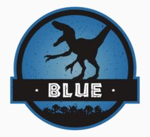 Velociraptor Squad: Blue Team Kids Tee
