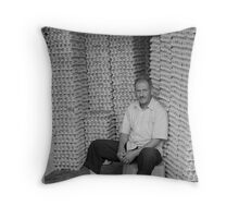 Egg man Throw Pillow