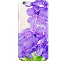 Cute purple green orchids flowers pattern  iPhone Case/Skin