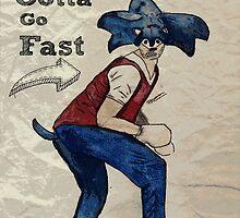 Gotta go fast!  by dragasenix