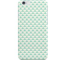 Vintage green white scallop pattern iPhone Case/Skin
