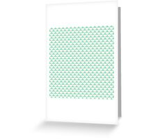Vintage green white scallop pattern Greeting Card