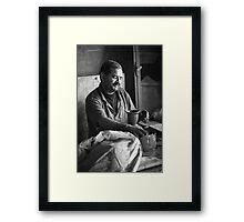 Pottery worker Framed Print