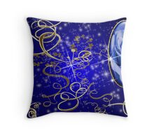 Enchanted Blue Rose Gem Series # 1 Throw Pillow