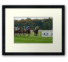 Doncaster Races Framed Print