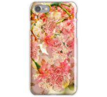 Vintage pink yellow roses floral pattern  iPhone Case/Skin