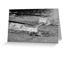 Rowing blade Greeting Card