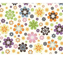 Floral Decor Pattern Modern Illustration Photographic Print