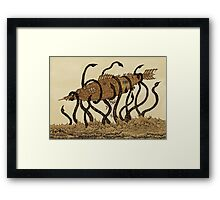 Nautilus & giant squid Framed Print