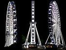 Brisbane Wheel Triptych by Ian Ker