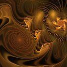 Golden Galaxy by Deborah  Benoit