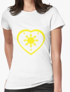 Love For The Philippines #1 Womens Fitted T-Shirt