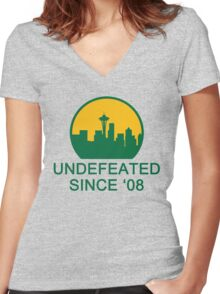 Undefeated Women's Fitted V-Neck T-Shirt